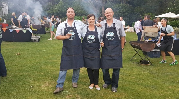 Food and wine tour company team building cook off judges